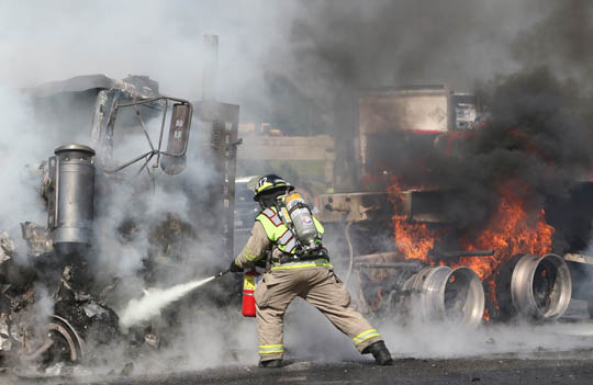 Transport Fire Highway 401 Colborne June 15, 20213154