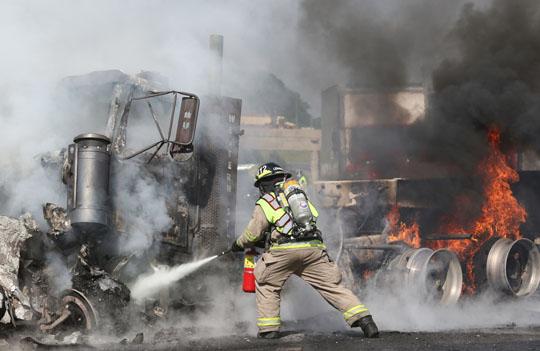 Transport Fire Highway 401 Colborne June 15, 20213155