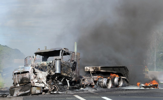 Transport Fire Highway 401 Colborne June 15, 20213160