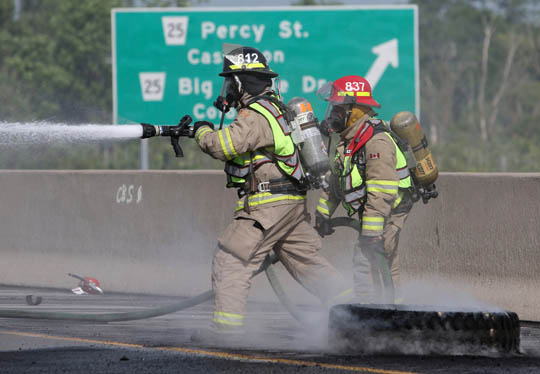 Transport Fire Highway 401 Colborne June 15, 20213163
