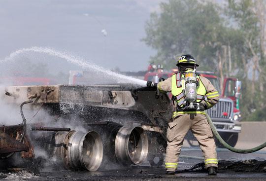 Transport Fire Highway 401 Colborne June 15, 20213164