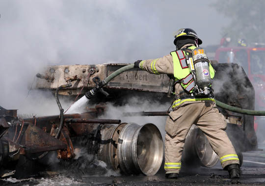 Transport Fire Highway 401 Colborne June 15, 20213165