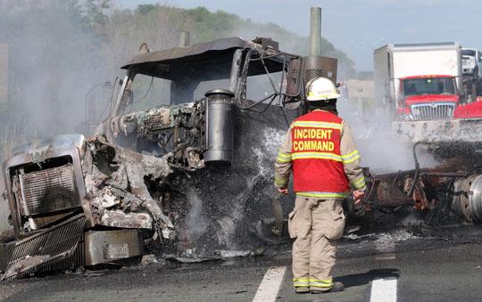 Transport Fire Highway 401 Colborne June 15, 20213166