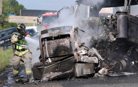 Transport Fire Highway 401 Colborne June 15, 20213167