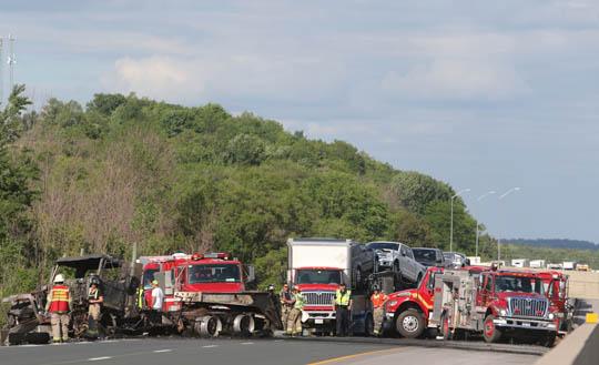 Transport Fire Highway 401 Colborne June 15, 20213173