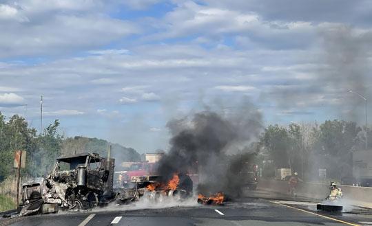 Transport Fire Highway 401 Colborne June 15, 20213174