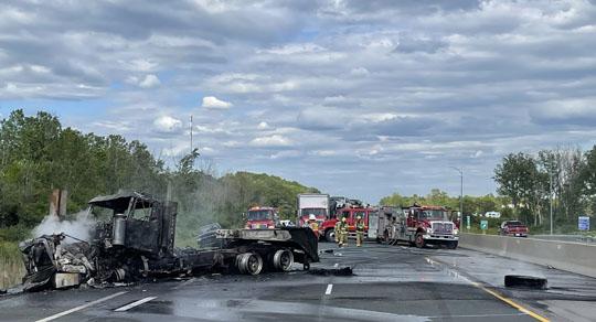 Transport Fire Highway 401 Colborne June 15, 20213175