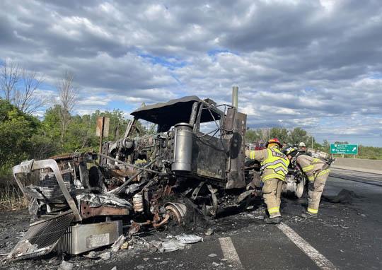 Transport Fire Highway 401 Colborne June 15, 20213185